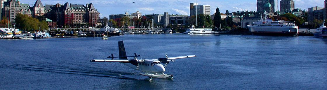 Float plane in the inner harbour